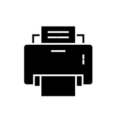 printer icon black sign on vector image