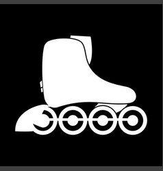 Roller skate white color icon vector
