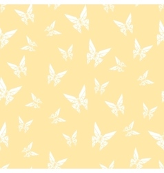 Seamless pattern paper origami butterfly vector