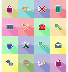 Service flat icons 18 vector
