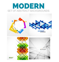 set of futuristic modern abstract template vector image