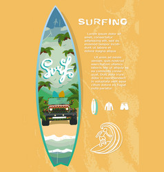 Surf board sale vector