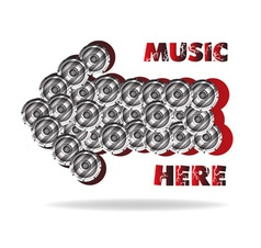 The abstract advertizing of music vector image vector image