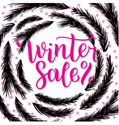 winter sale lettering design vector image vector image
