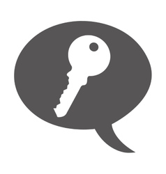 Key metal isolated icon vector
