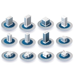 Isometric 3d city icons vector