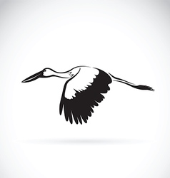 Stork flying vector