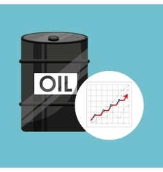 Barrel oil concept growth graph vector