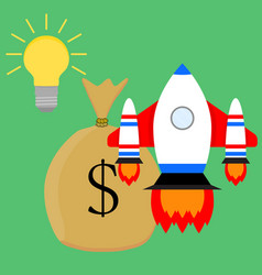 financially successful launch start up idea vector image