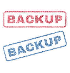 Backup textile stamps vector