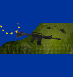 Europe union eu military power army defense vector