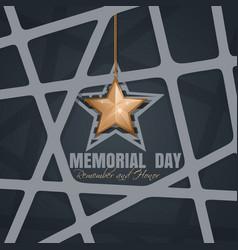Memorial day poster design vector
