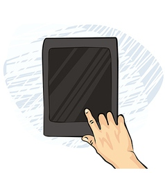 Hands with smartphone sketches vector