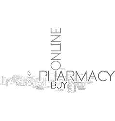 Benefits of x pharmacy text word cloud concept vector
