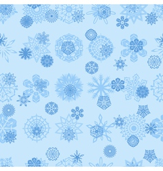Seamless snowflakes 1 vector