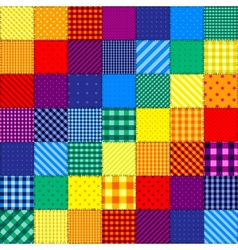 Patchwork pattern of rainbow colors vector