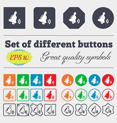 Bell icon sign big set of colorful diverse vector