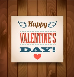 Happy valentines day - greeting card vector