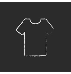 T-shirt icon drawn in chalk vector