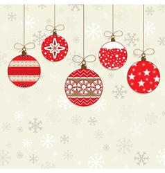 Red decorations vector