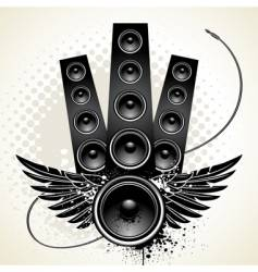 Wings speakers vector