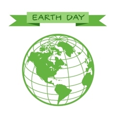 Earth day icon vector