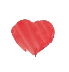 Heart carelessly painted with paint on paper vector