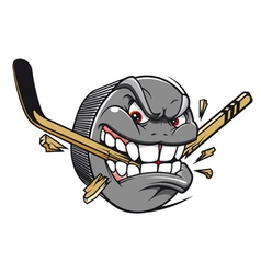 Hockey puck bites vector