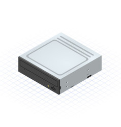 Isometric disc drive by ridjam vector
