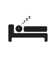 Flat icon in black and white style man sleeps vector