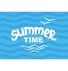 Summer time - hand drawn brush lettering vector