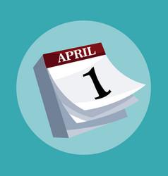 April fools day calendar vector