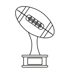 ball trophy shape american football award outline vector image