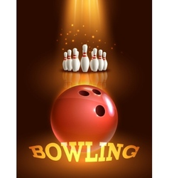 Bowling game poster vector image