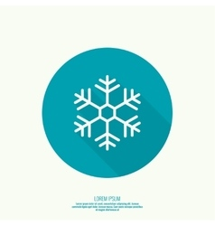 button with snowflake vector image vector image