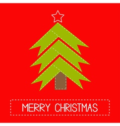 Christmas tree made of ribbons Card vector image