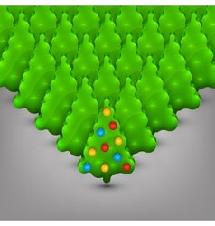 Christmas trees with toys vector image