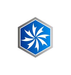 circle swirl abstract decoration logo vector image vector image