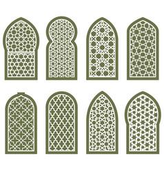 figured arabian window ornament - arabesque vector image vector image