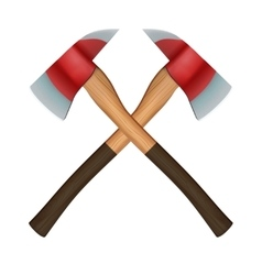 Firefighter Axes vector image