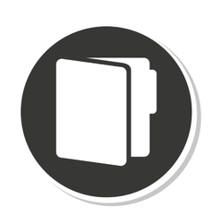 Folder data document icon vector