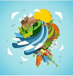 Go green energy earth vector