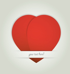 Heart paper Valentines day card vector image vector image