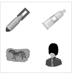Hygiene ecology army and other monochrome icon vector