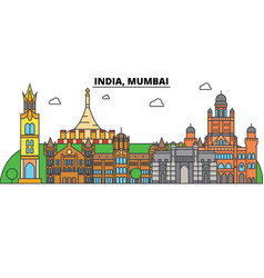 india mumbai hinduism city skyline vector image