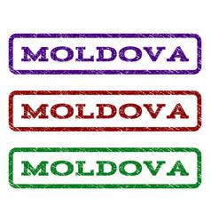 moldova watermark stamp vector image vector image