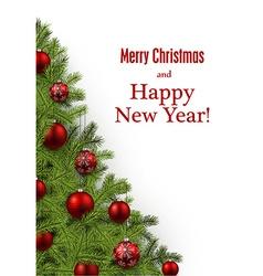 New Year and xmas card vector image vector image