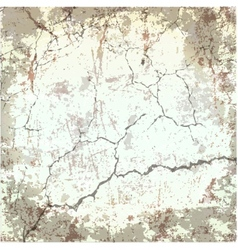old cracked grunge texture vector image vector image