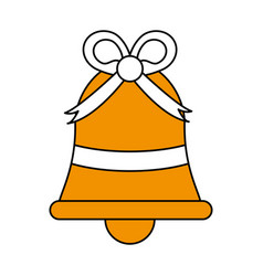 Ornamental bell design vector
