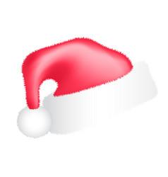 santa hats set hat santa christmas vector image